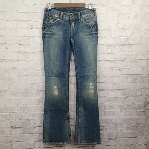 SILVER JEWEL distressed Bootcut Jeans